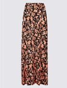 Marks & Spencer Jersey Pencil Maxi Skirt Multi