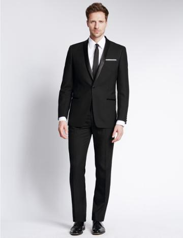 Marks & Spencer Black Slim Fit Dinner Jacket Black