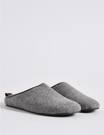 Marks & Spencer Slip-on Mule Slippers With Freshfeet™ Grey