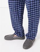 Marks & Spencer Slip-on Moccasin Flamingo Design Slippers Grey Mix