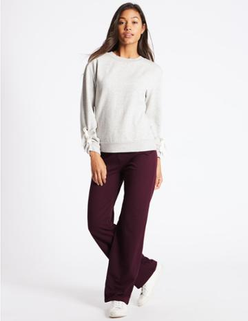 Marks & Spencer Cotton Rich Joggers Soft White
