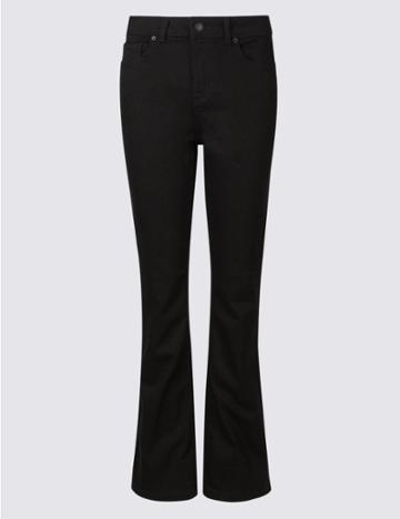 Marks & Spencer Ozone Mid Rise Slim Bootcut Jeans Black Mix