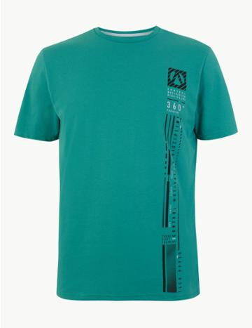 Marks & Spencer Active Motivation T-shirt Jade
