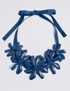 Marks & Spencer Abstract Flower Collar Necklace Blue