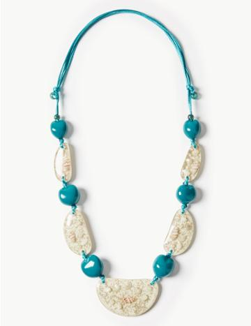 Marks & Spencer Pebble Necklace Neutral