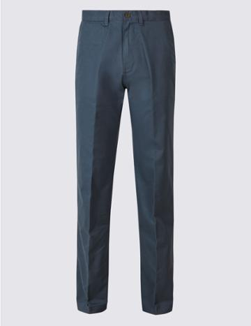 Marks & Spencer Regular Fit Chinos With Stormwear™ Air Force Blue