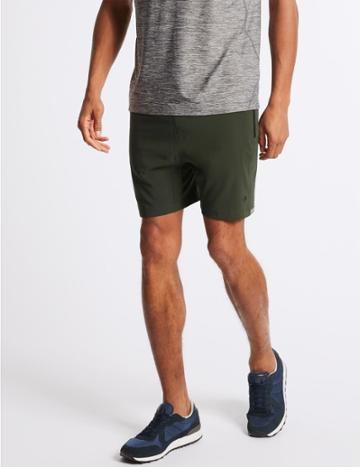 Marks & Spencer Active Short With Reflective Trim Khaki