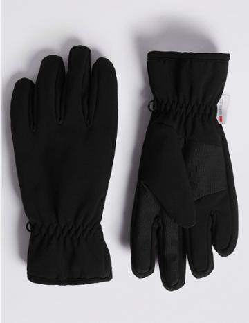 Marks & Spencer Wind Resistant Performance Gloves Black