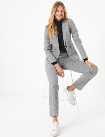 Marks & Spencer Checked Ankle Grazer Trousers
