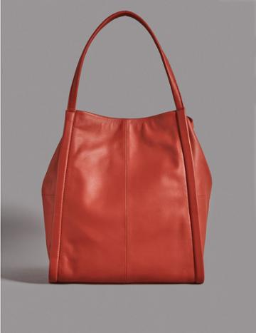 Marks & Spencer Leather Tote Bag Flame