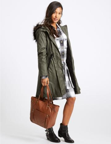Marks & Spencer Faux Leather Tote Bag Tan