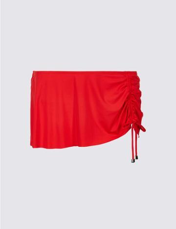 Marks & Spencer Skirted Adjustable Hipster Bikini Bottoms Red