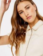 Marks & Spencer Denim Shirt Mini Dress Ecru