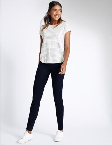 Marks & Spencer Cotton Rich Jeggings Indigo Mix