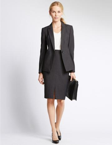 Marks & Spencer Welt Pocket Jacket Charcoal