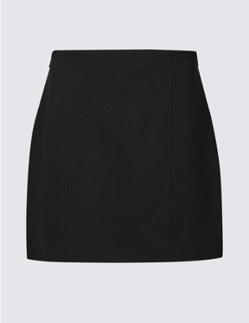 Marks & Spencer Petite Jersey A-line Mini Skirt Black