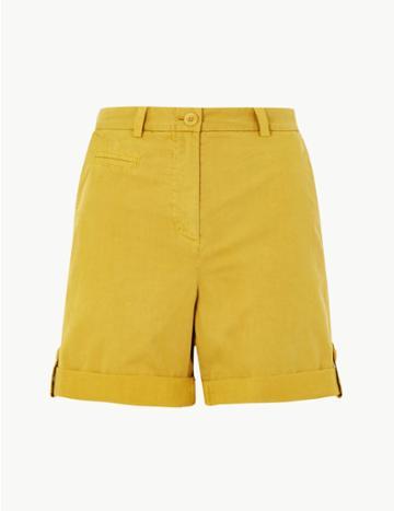 Marks & Spencer Pure Cotton Chino Shorts Honey