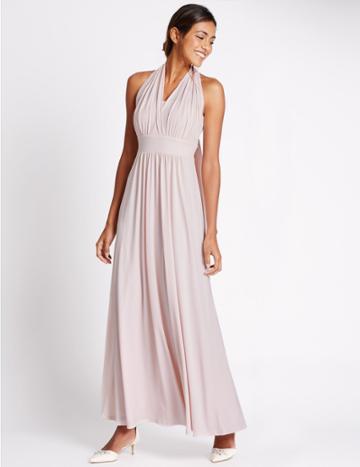 Marks & Spencer Multiway Slip Dress Blush Pink
