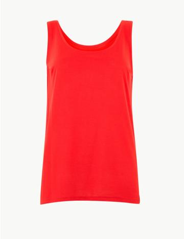 Marks & Spencer Scoop Neck Vest Top Red