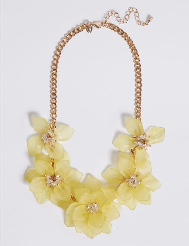Marks & Spencer Cloudy Flower Necklace Yellow