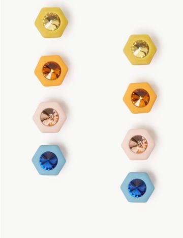 Marks & Spencer Multi Pack Mini Stud Earrings Multi