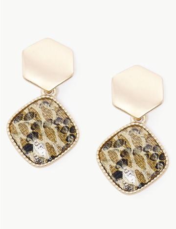 Marks & Spencer Mini Diamond Drop Earrings Neutral