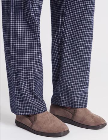 Marks & Spencer Velour Pull-on Slippers Oatmeal