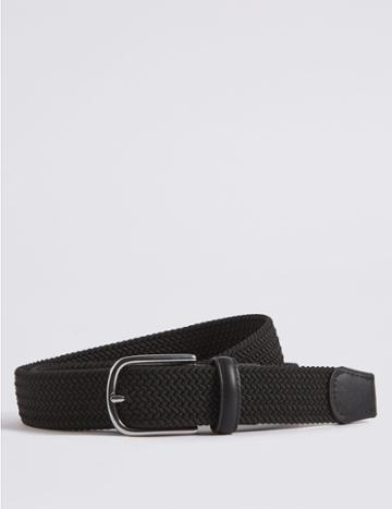 Marks & Spencer Stretch Web Buckle Belt Black
