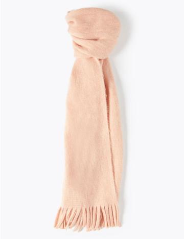 Marks & Spencer Brushed Knit Scarf Blush
