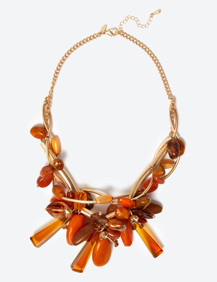 Marks & Spencer Entwined Flowers Necklace Mustard