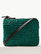 Marks & Spencer Straw Cross Body Bag Green