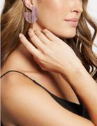 Marks & Spencer Block Resin Hoop Earrings Purple