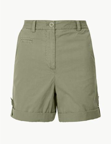 Marks & Spencer Pure Cotton Chino Shorts Khaki