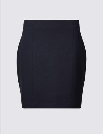 Marks & Spencer Jersey A-line Mini Skirt Navy