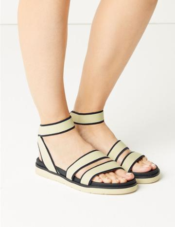Marks & Spencer Ankle Strap Sandals Cream Mix
