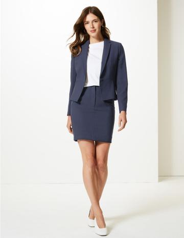 Marks & Spencer A-line Mini Skirt Dark Navy