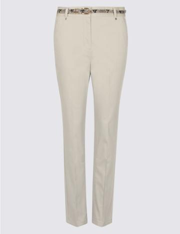Marks & Spencer Cotton Rich Chinos Natural