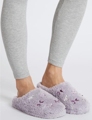 Marks & Spencer Mule Slippers Lavender