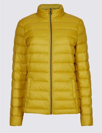 Marks & Spencer Padded Down & Feather Jacket With Stormwear™ Winter Lime