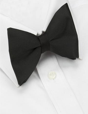Marks & Spencer Pure Silk Pre-tied Bow Tie Black