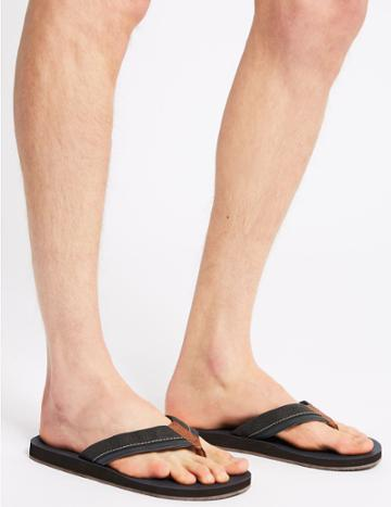 Marks & Spencer Perforated Slip-on Flip Flops Grey Mix