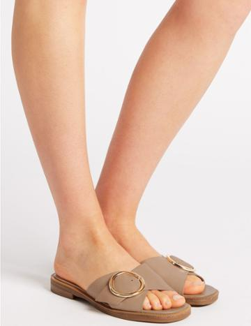 Marks & Spencer Leather Ring Sliders Nude