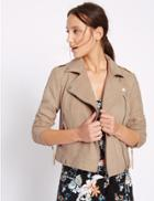 Marks & Spencer Faux Suede Biker Jacket Neutral