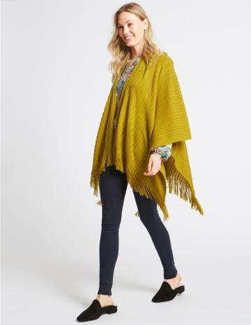 Marks & Spencer Knitted Wrap Ochre