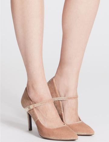 Marks & Spencer Stiletto Fine Strap Court Shoes Blush