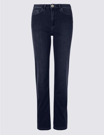 Marks & Spencer Sculpt & Lift Roma Rise Straight Leg Jeans Indigo
