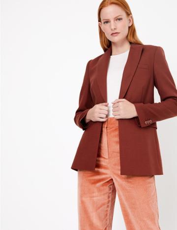Marks & Spencer Button Front Blazer Russet