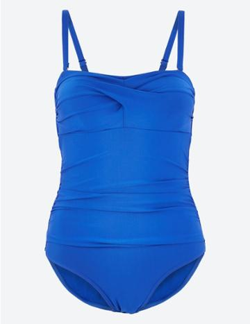 Marks & Spencer Ruched Bandeau Swimsuit Cobalt
