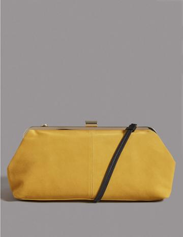 Marks & Spencer Suede Clutch Bag Yellow