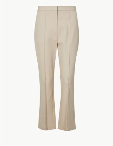 Marks & Spencer Bootcut Leg Trousers Cream